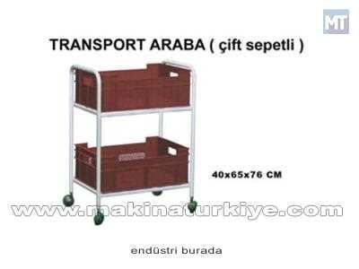 Çift Sepetli Transport Araba