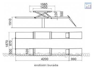 3,2 Ton Çift Istampalı Elektro Hidrolik Gömme Lift / Consul Cns-2.35mkfn
