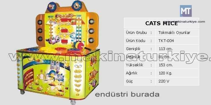 Cats Mice Tokmaklı Oyun Makinesi / Tekno-Set Tkt 004 2