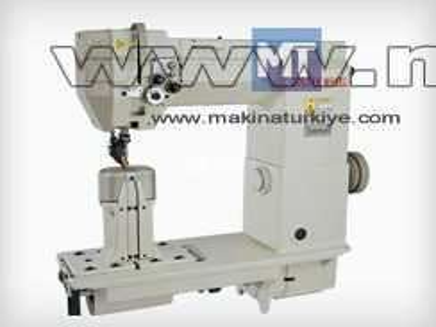 Elektronik Sütunlu Çift İğne Deri Makinesi