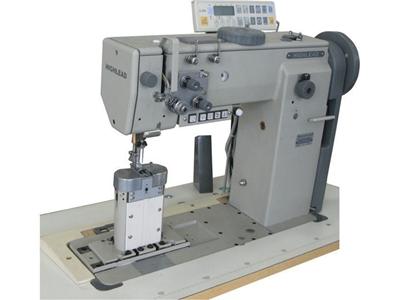 Sütunlu Çift Pabuç Çift İğne Deri Dikiş Makinesi