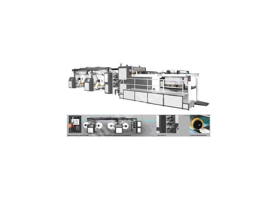 4 Bobin Kağıt Ve Karton Kesme Makinesi 1430 Mm / Vatan Makina Fct 1450/4