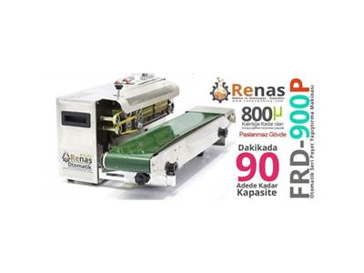 FR-900 Paslanmaz Poşet Ağzı Yapıştırma Makinası