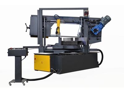 Yarı Otomatik Çift Açılı Kesim Sutunlu Şerit Testere Makinesi Beka-Mak (BMSY-360CDGH)