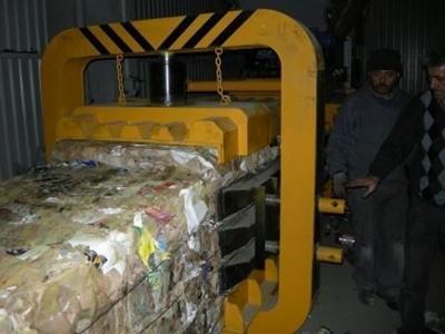 Kağıt Balya Pres Makinası 750 X 750 Mm