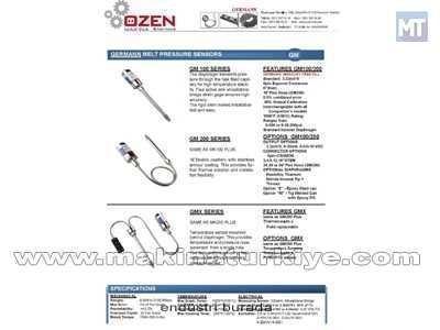 Eriyik Basınç Sensör Ve  Basınç Sıcaklık Sensörü