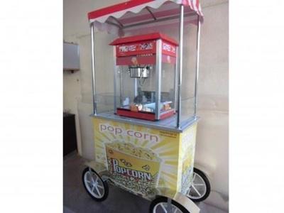 Arabalı Patlamış Mısır Pop Corn Makinası