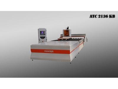 Cnc Ahşap İşleme Makinası - 2100 X 3600 Mm Makser ATC 2136 KB Makser ATC 2136 K...