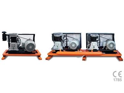 500 Lt - 10 HP - 400 Volt Endüstriyel Pistonlu Hava Kompresörü Setkom SET60 / 1...