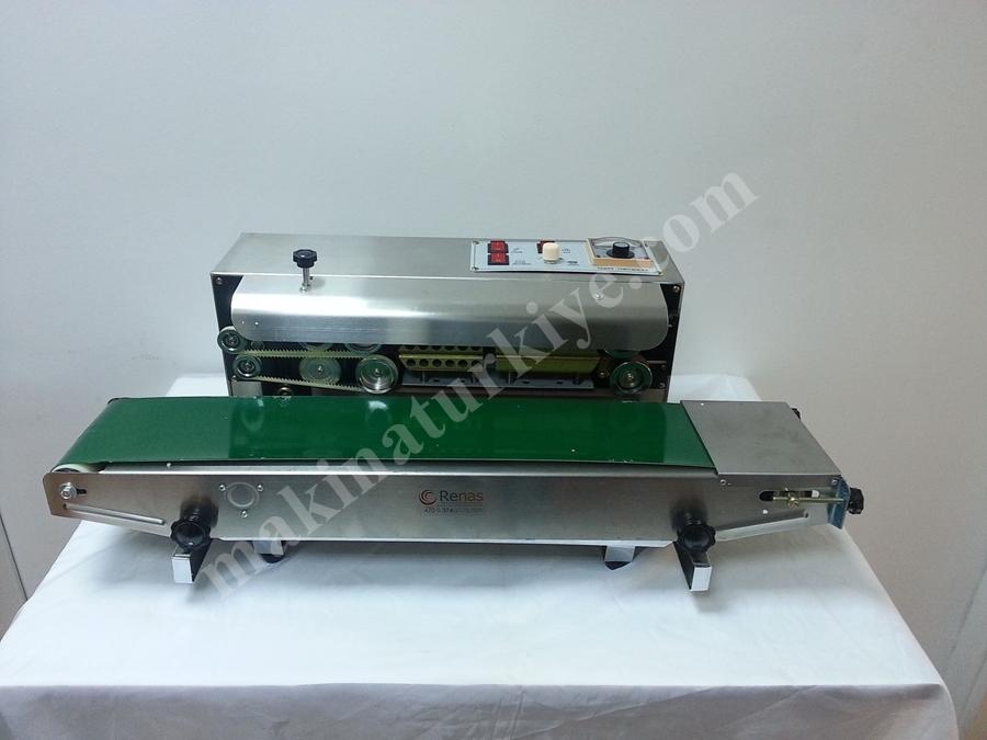 Renas Makina Otomatik Poşet Yapıştırma Makinası Paslanmaz Yatay