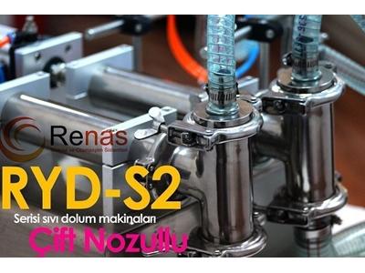 Ryd2-S 300 Yarı Otomatik Çift Nozullu Sıvı Dolum Makinası 20-300Ml