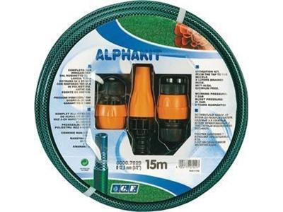 Sulama Hortumu Alpha 1/2 inç 15 Mt Adaptör Kitli