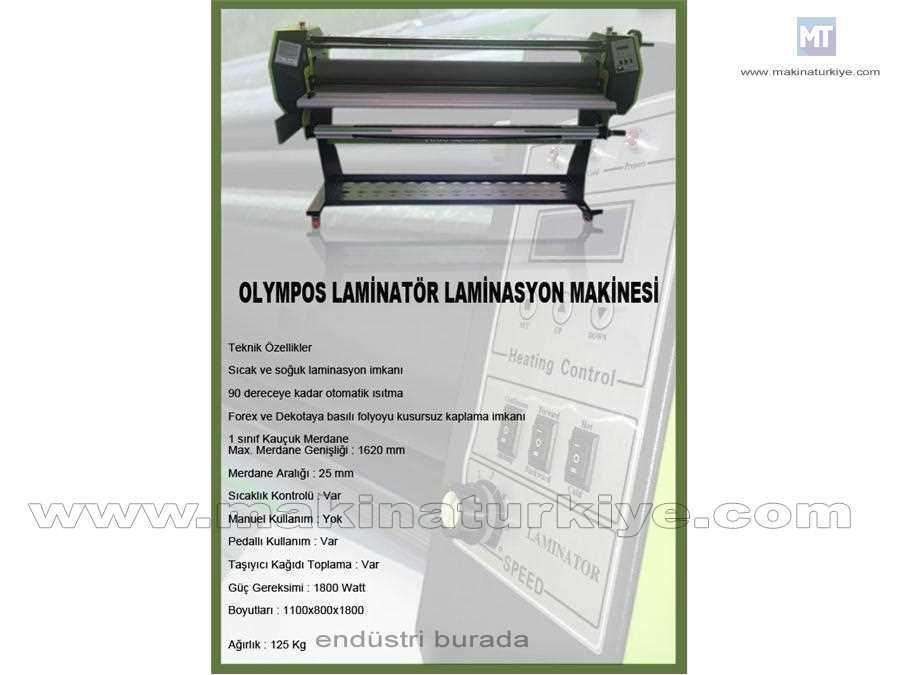 Olympos Sıcak Soğuk Laminasyon Makinası 1620 Mm