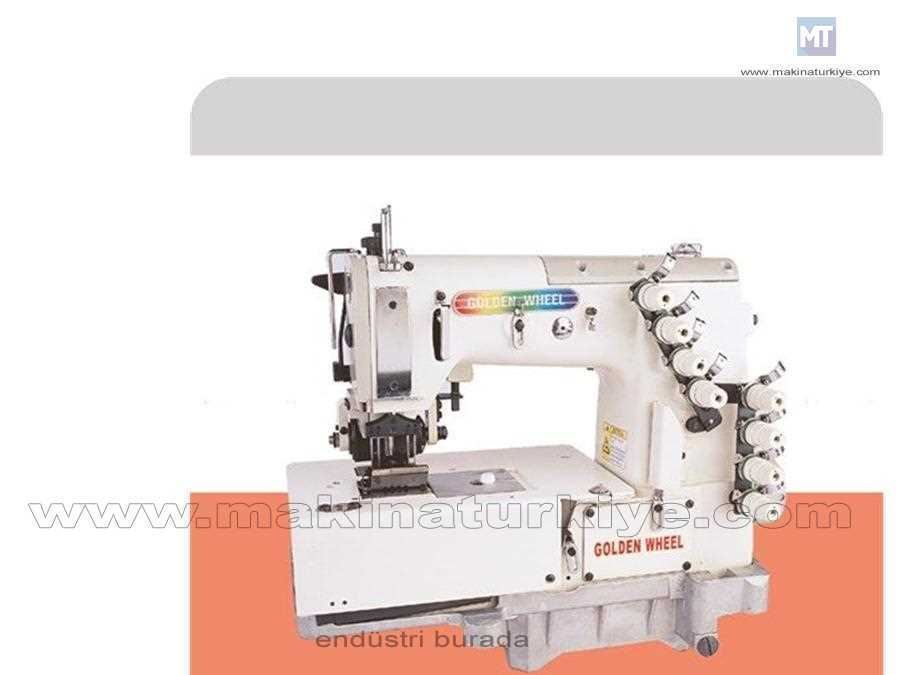 Zincir Dikiş 4 İğne Dizlikli Havalı Kot Kemer Makinası