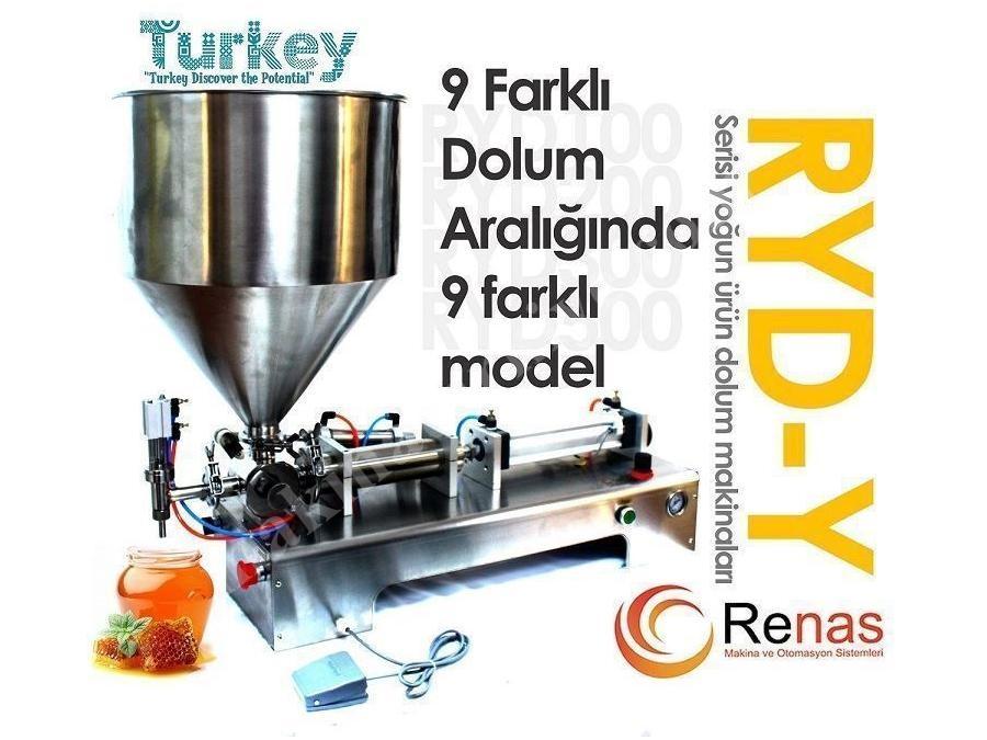 Kase Dolum Makinası (RYD-Y500 Yoğun Sıvı Dolum Makinası (Yarıotomatik))