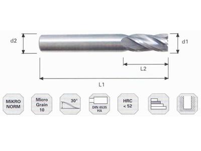 Mikro Sert Metal Msf-010402 Karbür Düz Freze Bıçağı