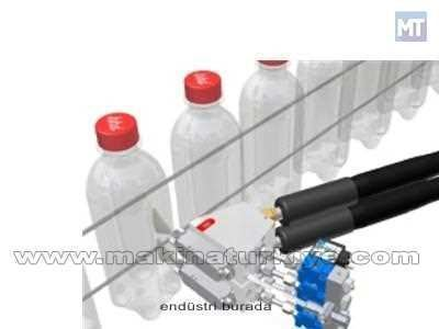 Seu Şişeye Hot Melt Etiket Uygulaması