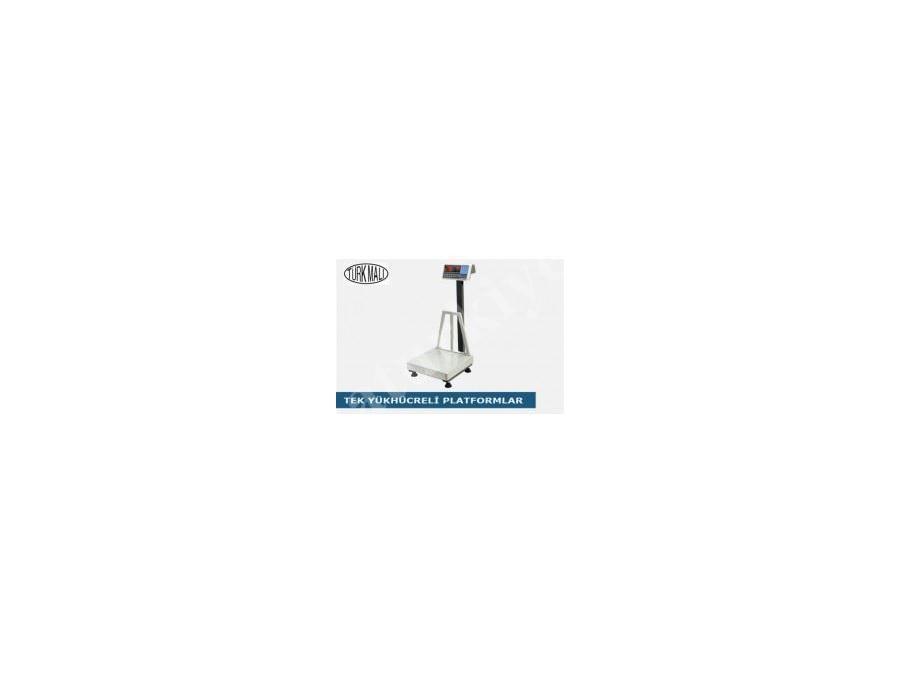 150 Kg Tek Yük Hücreli Tartımlı Platform Baskül  (80X90cm)