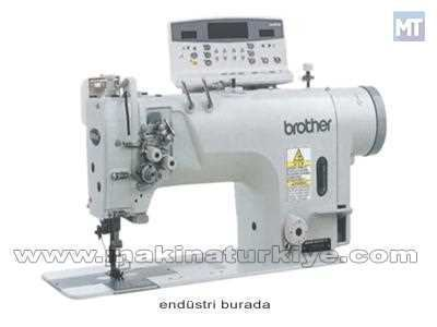 Brother İplik Kesmeli Çift İğne Dikiş Makinası T-8722 B
