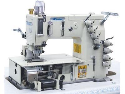 Broderi 4 İğne Lastik Makinası (Ön Merdaneli) Bd-1404Pmd