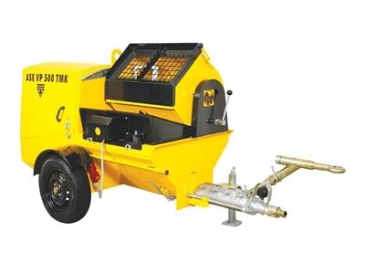 Dizel Kara Sıva Makinası 6-35 Lt /Dk Ase Vp 500 Tmk/ Dhl