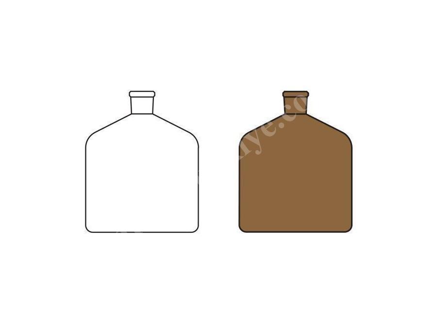 1000 ~ 2000 Ml Şeffaf Ve Amber Laboratuvar Büret Şişesi