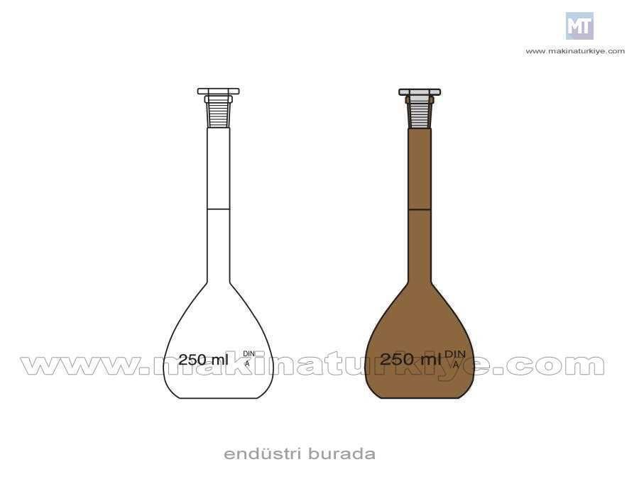 10 ~ 5000 Ml Şeffaf Ve Amber Laboratuvar Balon Jojesi