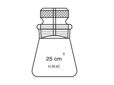 25 ~ 50 Ml Hubbard Laboratuvar Piknometre