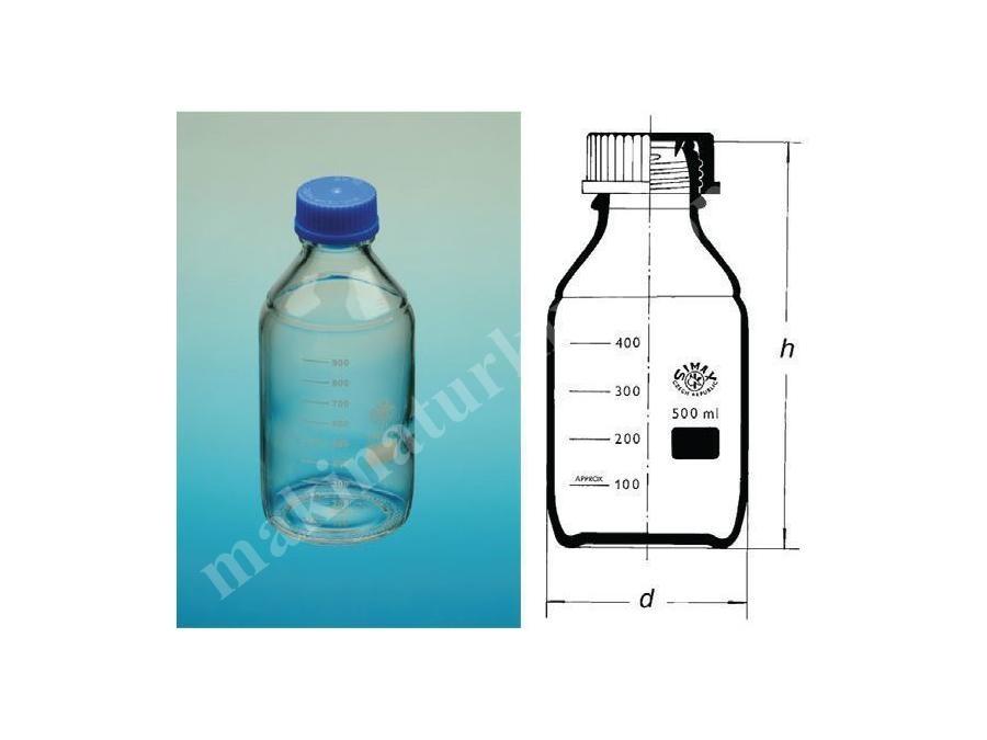 100 ~ 5000 Laboratuvar Şişesi Mavi Vida Kapaklı Otaklavlanabilir