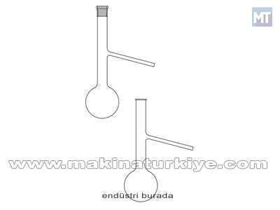100 ~ 150 Ml Engler Distilasyon Laboratuvar Balonu