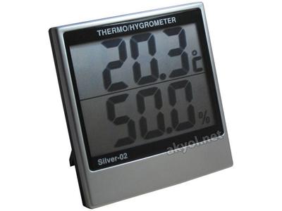 İç Mekan Ortam Sıcaklık Ve Nem Ölçüm Cihazı Loyka Silver-02