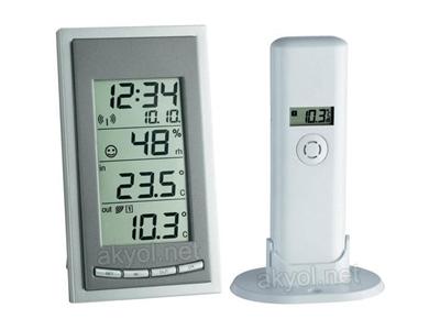 Diva İç Sıcaklık,Nem, Dış Sıcaklık Ve Saatli Termometre