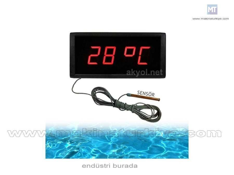 5,7 CM Kapalı Ortam Havuz Suyu Sıcaklığı Ölçer