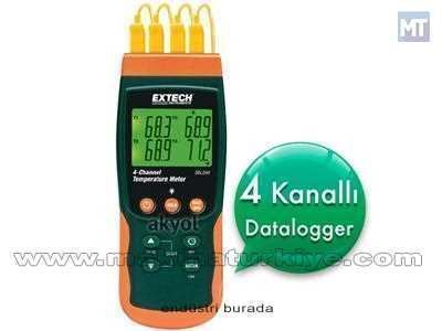 4 Kanallı Sıcaklık Kayıt Cihazı Extech Sdl 200