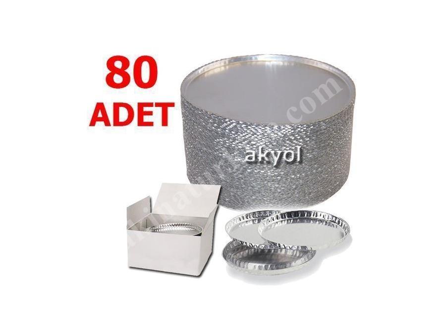 80 Adet Mx60 Nem Tayin Cihazının Alüminyum Numune Kabı