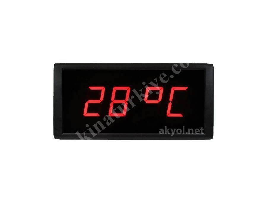 Işıklı Termometre Saat Loyka St 574