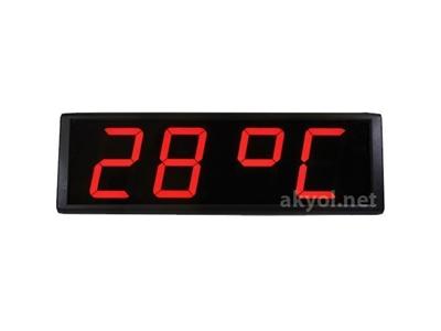 Sıcaklık+Nem+Saat Ölçer Termometre Loyka Stn104