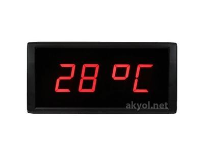 Işıklı Termometre Saat Nem Ölçer Stn-574