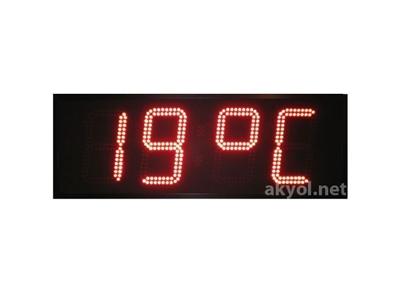 Dış Mekan Işıklı Nem, Saat, Derece Ölçer Termometre 15 Cm Yazı Yüksekliği