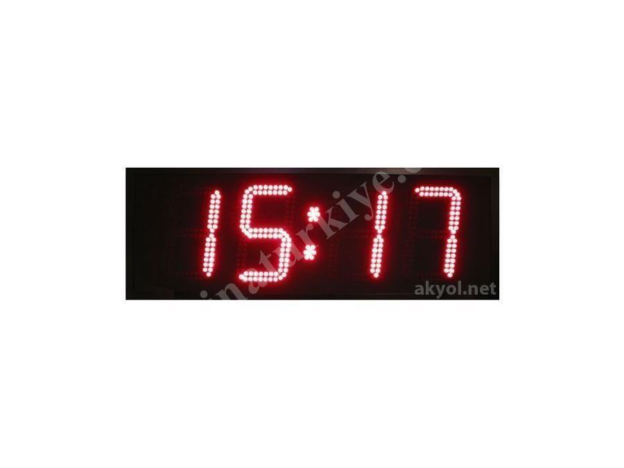 Dış Mekan Işıklı Saat, Derece Ölçer Termometre 25 Cm Yazı Yüksekliği