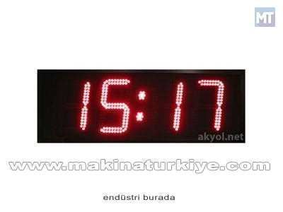Dış Mekan Işıklı Nem, Saat,Derece Ölçer Termometre 25 Cm Yazı Yüksekliği