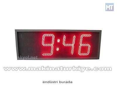 Dış Mekan Işıklı Nem, Saat, Derece Ölçer Termometre 30 Cm Yazı Yüksekliğ