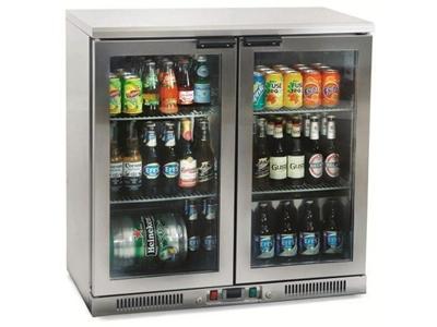 Paslanmaz Cam Kapılı Bar Buzdolabı