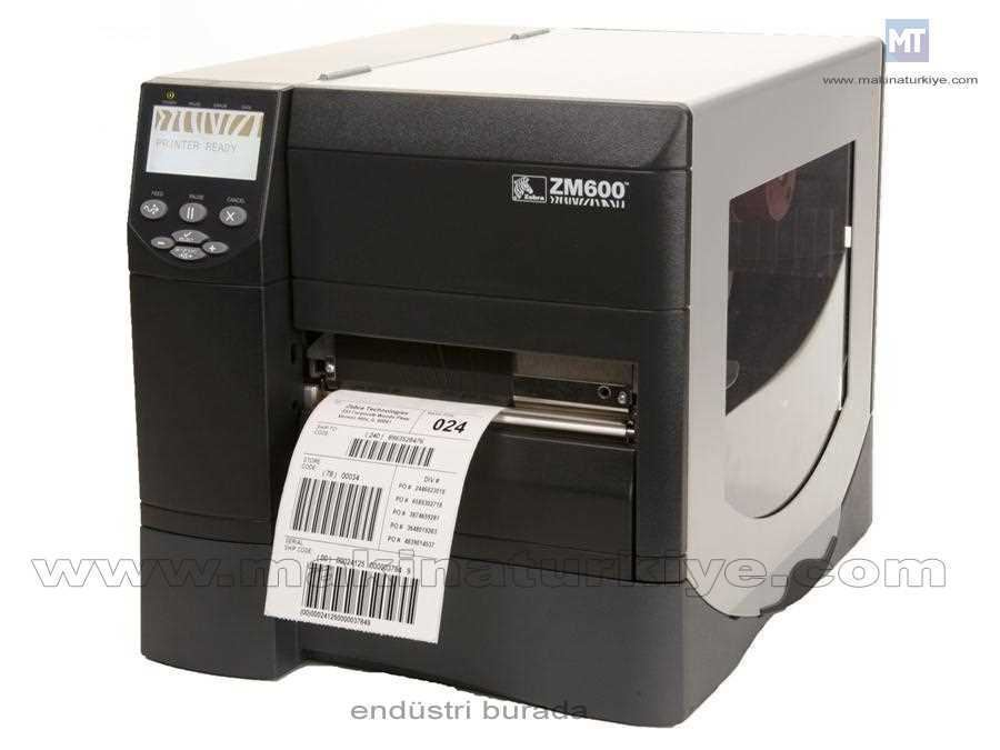 Endüstriyel Barkod / Etiket Yazıcı Zm600