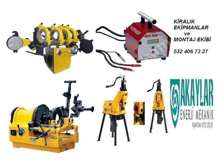 Kiralık Alın Kaynak Ve Elektrofüzyon Makinesi