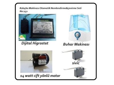 Kuluçka Makinası Otomatik Nemlendirme Ve Çevirme Seti No 252