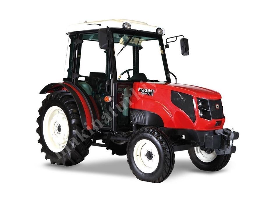 Erkunt Kısmet 58E 2Wd Kabinli 2 Çeker Bahçe, Tarla Tipi Traktör