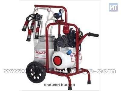 Tek Başlıklı Arabalı Kuru Sistem Aliminyüm Güğümlü Süt Sağım Makinası