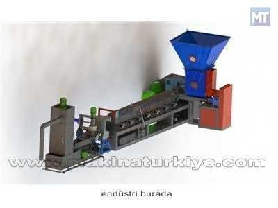 Ekstruder Makinası Vida Çapı: 80 mm Kapasite 50-80 kg