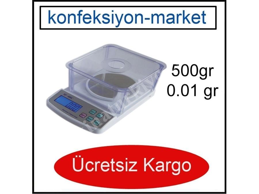 500G 0.01 G Hassas Kuyumcu-Mutfak Terazisi-Tartı